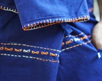 F800 Hand Sewing Inseam design for Thai Fisherman Pants Wide Leg pants, Wrap pants, Unisex pants