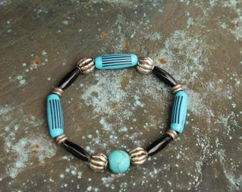 """Turquoise Stretch Bracelet """"Taking A Tranquil Respite"""""""