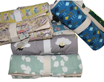 One Travel Changing Pad, Waterproof Travel Size Changing Pad, Baby Changing Mat, On the Go Changing Mat, Choose your Fabric