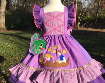 Tangled Princess themed Nova.  Sz 2-8