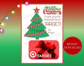 Target Gift Card Holder-Instant Download