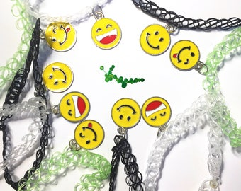 Smiley Face Tattoo Choker