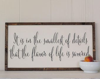 Flavor of Life Sign, Wood Sign, Kitchen Sign