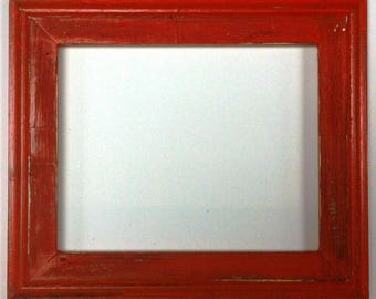 "1-3/4"" Orange Distressed Picture Frame"