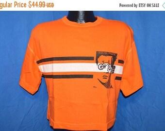 ON SALE 80s Ocean Pacific OP Bicycle Face Orange Half Shirt Crop Top Orange Vintage t-shirt Medium