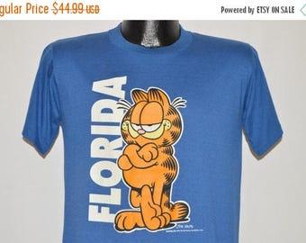 ON SALE 80s Garfield Florida t-shirt Medium