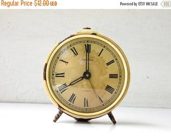 ON SALE JANTAR - Vintage Mechanical Alarm Clock - Non Working Clock - from Russia / Soviet Union / Ussr