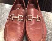 Men Ferragamo Brown Loafers