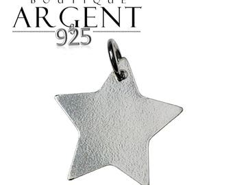 Star shaped charm 17X15mm 925 sterling silver