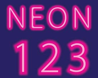 Glowing pink, neon alphabet, neon, pink, alphabet, letters, numbers, alphabet clipart, neon clipart, pink neon, pink alphabet, glowing neon