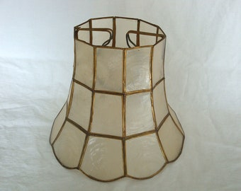 Vintage Capiz Shell Clip On Lamp Shade