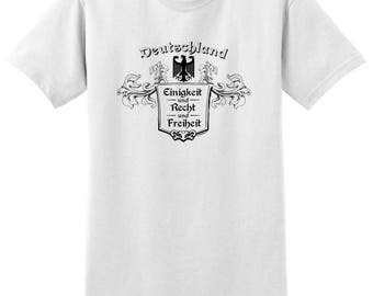 German Pride Deutschland Eingkeit und Recht und Freiheit T-Shirt 2000 - RS-848