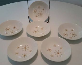 Vintage Star Glow Berry Bowls by Royal China- 5 3/4 Royal Ironstone Set of 6