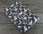 Husky Huskies Cute Fat Sled Dog Animal Illustrated Patterned Gift Wrap / Wrapping Paper