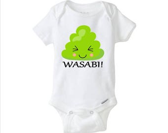 Funny Baby Wasabi Sushi Inspired Onesie