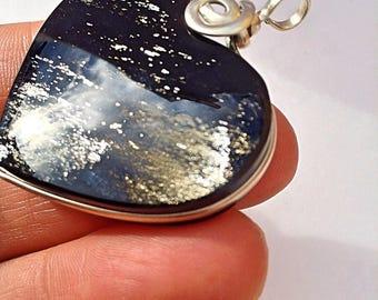 Obsidian Silver Heart