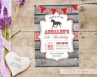 Pink country birthday invitations etsy cowgirl country horse birthday invitation digital download filmwisefo