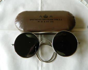 True vintage rare RAF WW 2 Royal Air Force (RAF) Sunglasses Military 1940's. Made in England.