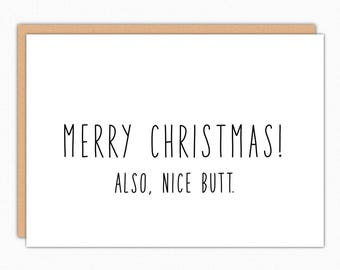 Christmas Card Boyfriend. Boyfriend Xmas Card. Funny Christmas Card For Him. Funny Christmas Card For Her. Girlfriend Christmas. Nice Butt