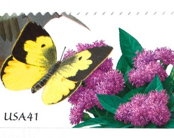 10 Unused Butterfly Stamps // Pollination Postage Stamps // Garden Butterflies Postage for Mailing Invitations and Cards