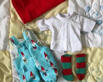 """9"""" Santa overalls set"""
