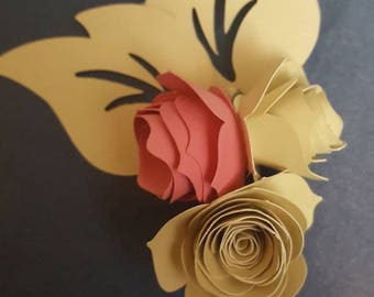 Wedding corsage, wedding boutineers / boutonniere. Paper boutonniere. Original, custom colors available. Custom wedding boutonniere corsage.