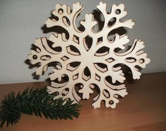 Snowflake, wood, 20 cm (14-0001D)