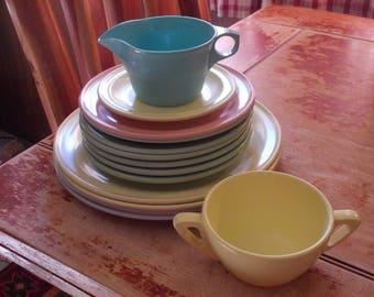 c-vintage texas and prolon melmac dinnerware set