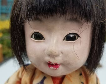 Lovely antique Japanese Ichimatsu Gofun Doll