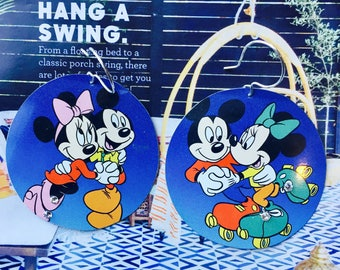 Mickey Mouse earrings; minnie and mickey earrings; disney inspired earrings; disneyland inspired jewelry;Minnie Mouse Jewelry