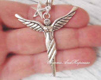Pendant Angel Necklace Wings star