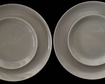 Mid-Century Modern Dinner & Salad Plates - Set of 4