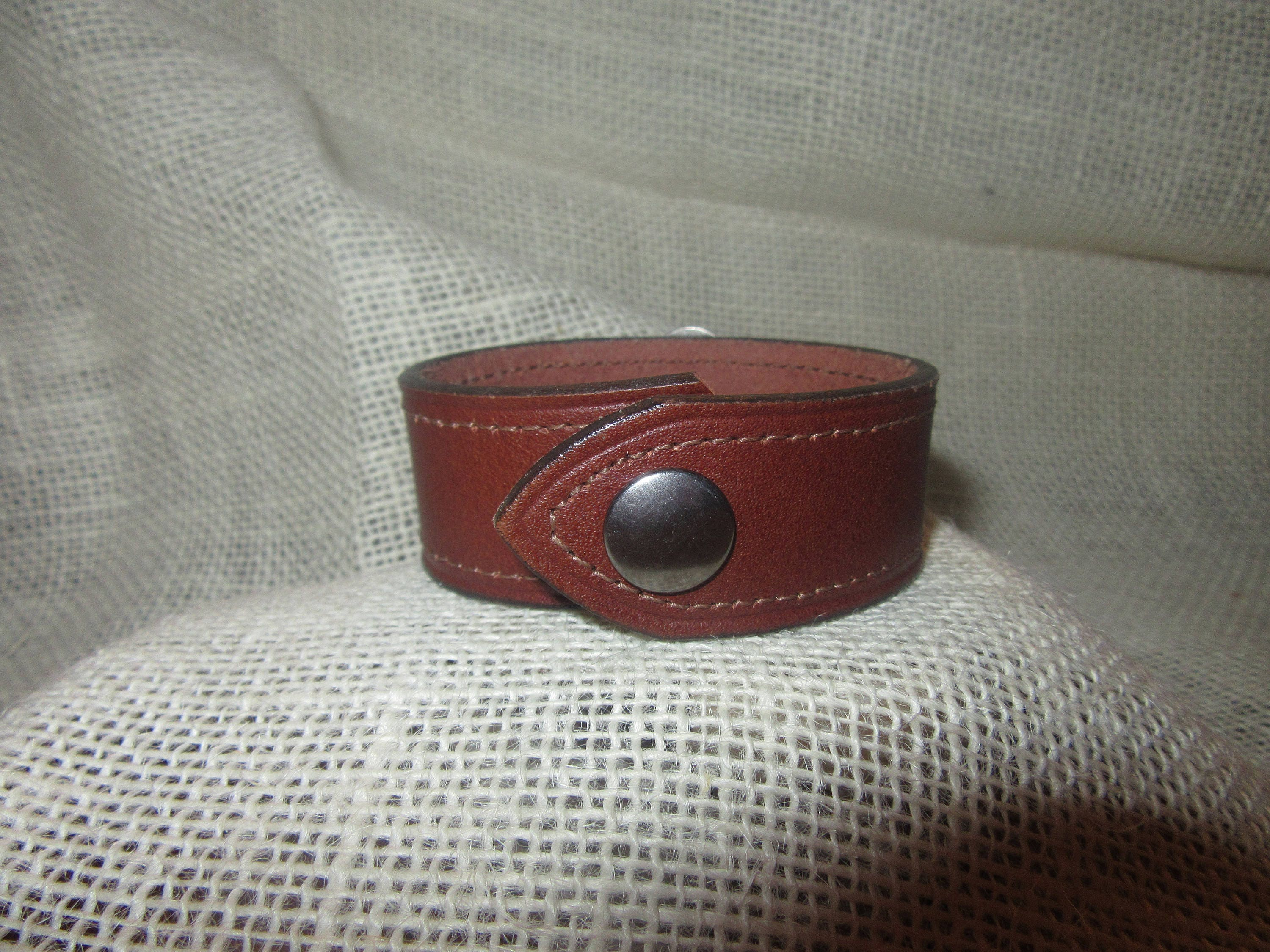 Hm ooak repurposed brown leather belt silver firefighter fire Repurposed leather belts