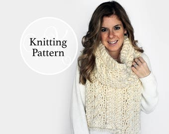 Knitting Pattern Chesapeake Scarf Instant Download