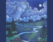 Art Print Moon Goddess Gu...