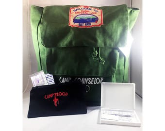 Camp Crystal Lake Camp Counselor knapsack Jason Voorhees