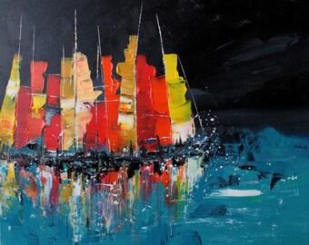 Ships sailing through the night