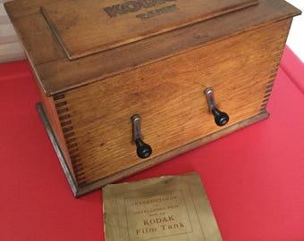 1912 Kodak Film Tank Dovetail Box, all mechanics, Instruction Manual