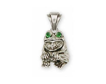 Frog Pendant Jewelry Sterling Silver Handmade Frog Pendant FG10-XP
