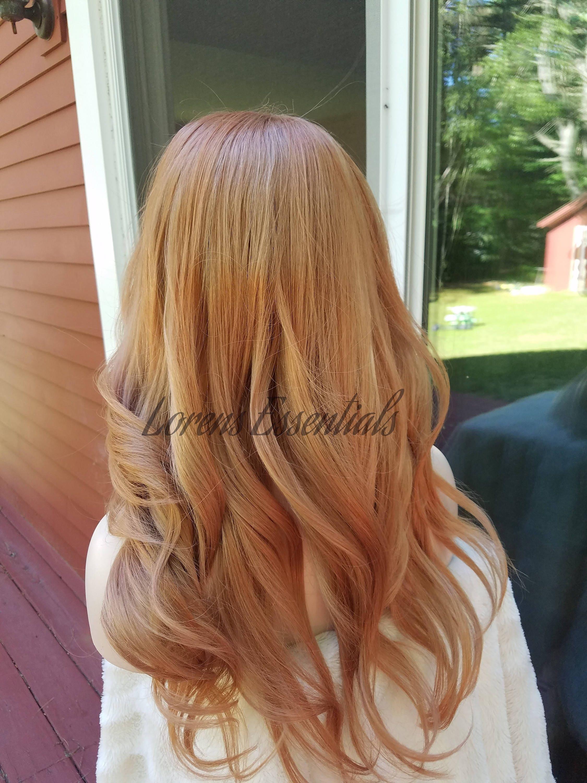 Strawberry Blonde Red Hair European Human Hair Rooted Blonde