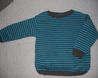 little monster sweater 2/3 years knitting