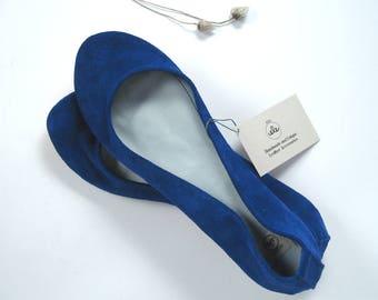 Blu Elettrico Soft Handmade Ballet Flats - Reserved for Carson