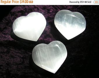 ON SALE 15% OFF Selenite Heart, crystal, mineral, new age, metaphysical, healing crystal