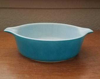 Vintage Pyrex Turqouise 1 Pint Dish 471