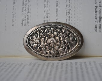 Antique Sterling Brooch - 1900s Victorian Sterling Brooch