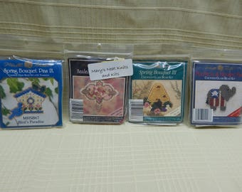 Mill Hill Bead Pin Kits Sold Individually GOP Elephant, Bee Hive, Bird House, Willow Rose