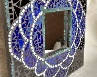Dark Chocolate and Blue Mosaic Mirror