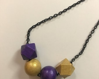 Hand painted bead necklace