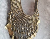 Vintage costume necklace/Egyptian mummy/Flapper girl/Art deco/Bohemian Gypsy/Pagan Necklace/Distressed costume jewelry
