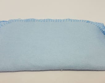 SALE  24 Baby Blue Flannel cloth wipes